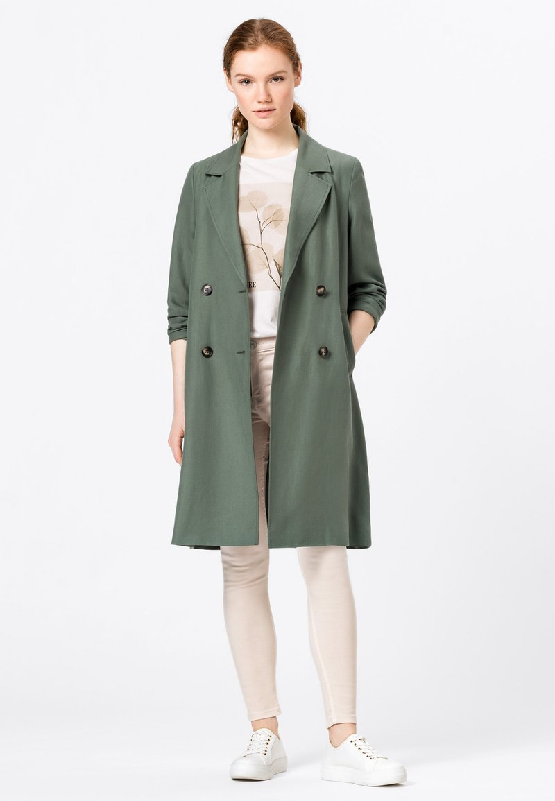 HALLHUBER - Classic coat - seegrün