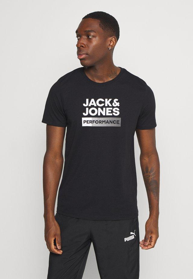 JCOZ SPORT LOGO TEE - Print T-shirt - black