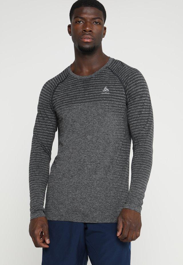 CREW NECK SEAMLESS - Sports shirt - grey melange
