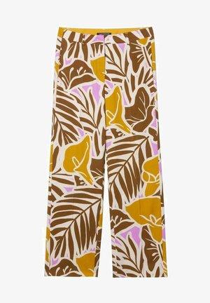 Trousers - beige gemustert
