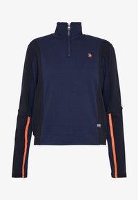 G-Star - NOSTELLE BIKER HALFZIP - Zip-up hoodie - servant blue/mazarine blue - 5