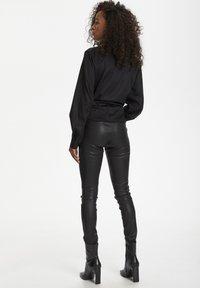 Karen by Simonsen - Leather trousers - meteorite black - 2