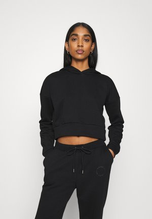 NMLUPA CROP HOOD - Sweatshirt - black
