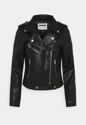 NMROLLO JACKET - Giacca in similpelle - black