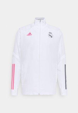 REAL MADRID SPORTS FOOTBALL TRACKSUIT JACKET - Klubbkläder - white