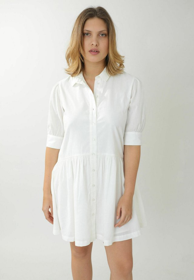 Korte jurk - naturweiß