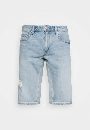 BERMUDA - Denim shorts - light blue denim