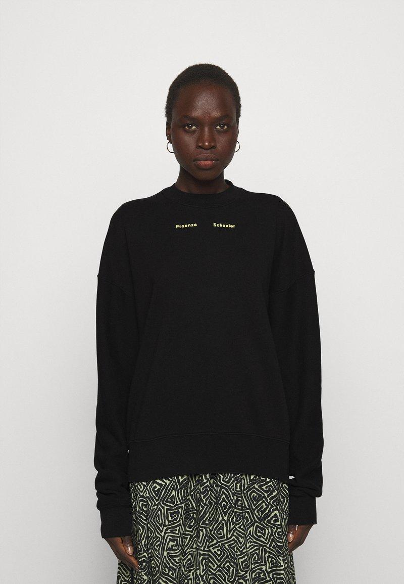 Proenza Schouler White Label - MODIFIED RAGLAN SOLID - Sweatshirt - black