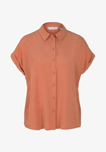 Button-down blouse - sundown coral