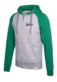 Spitzbub - SPITZBUB HOODED ZIP OLIVER - Zip-up hoodie - grau/grün - 2