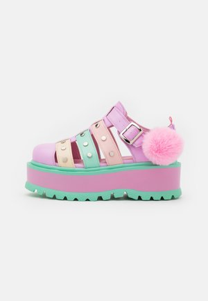 VEGAN NYOKA  - Platform sandals - rainbow