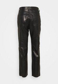 Iro - GNEISS TROUSERS - Spodnie skórzane - black - 8