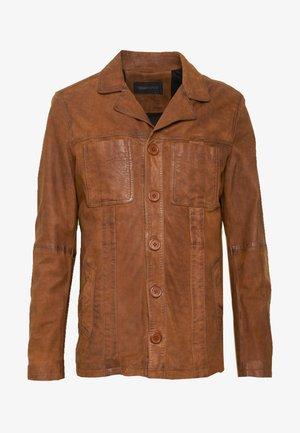 LEO - Leather jacket - whisky