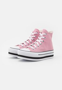 Converse - CHUCK TAYLOR ALL STAR PLATFORM LAYER - High-top trainers - lotus pink/white/black - 2