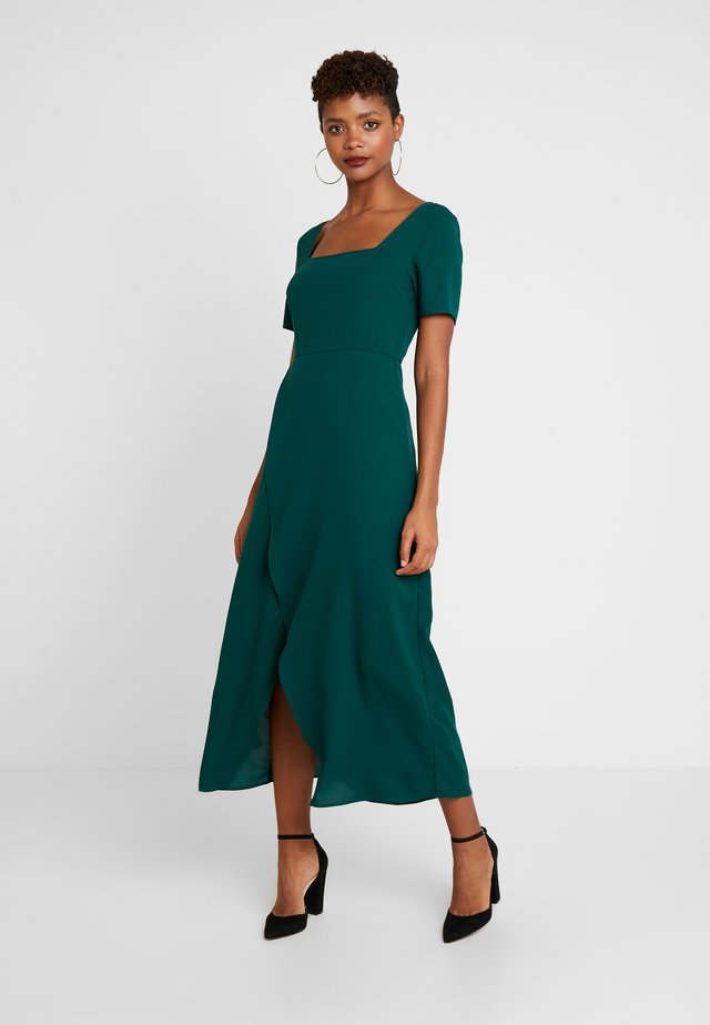 SLEEVE WRAP TIE FRONT DRESS - Day dress - emerald green