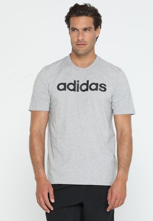 LIN TEE - Camiseta estampada - medium grey heather/black