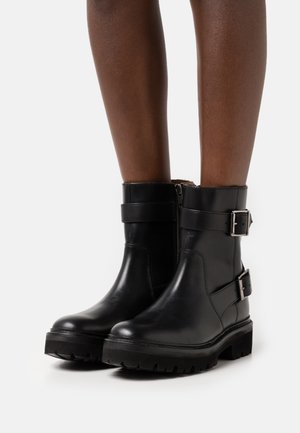 NATASHA - Platform ankle boots - black