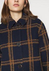 Selected Femme - SLFESTA JACKET - Classic coat - maritime blue/dachshund - 4