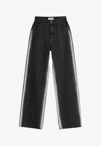 Bershka - Jeans bootcut - black - 4