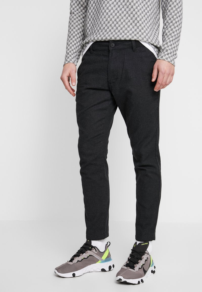 edc by Esprit - BRUSHED - Pantaloni - anthracite