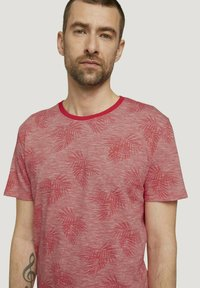 TOM TAILOR - Print T-shirt - plain red white stripe - 3