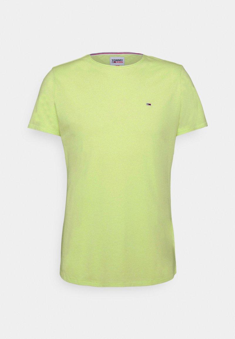 Tommy Jeans - SLIM JASPE C NECK - T-paita - green