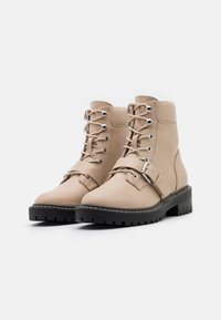 ONLY SHOES - ONLBOLD PADDED LACE UP BOOTIE  - Lace-up ankle boots - beige - 2