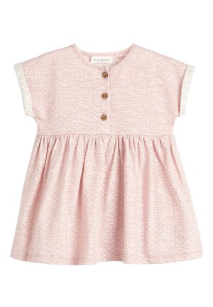 LIGHT TEAL JERSEY DRESS (0MTHS-2YRS) - Vestito di maglina - pink