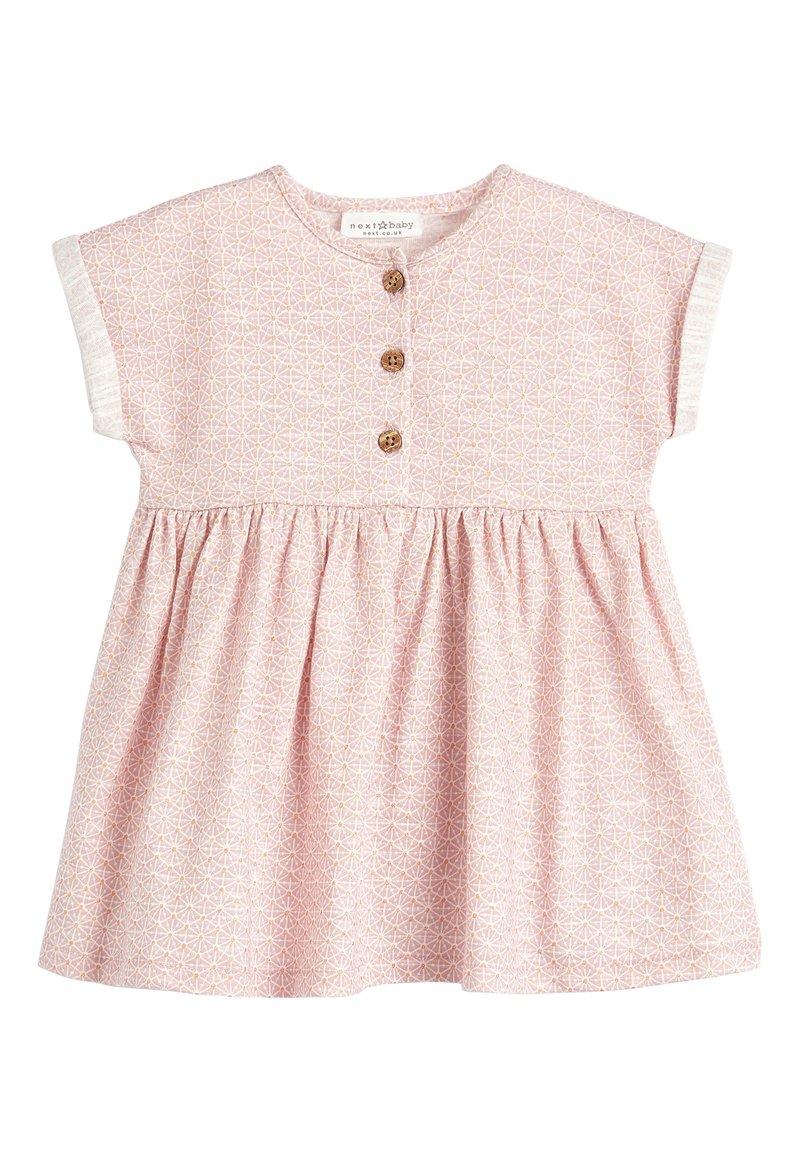 Next - LIGHT TEAL JERSEY DRESS (0MTHS-2YRS) - Jerseyjurk - pink