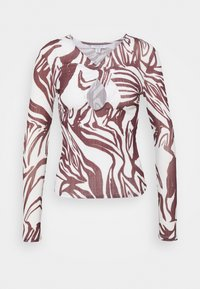 Topshop - SWIRL KEYHOLE - Long sleeved top - choc - 5