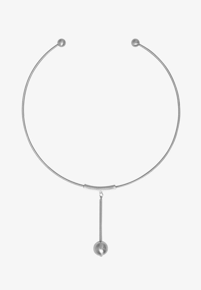 TABITHA CIRCLE BAR - Ketting - rhodium plating
