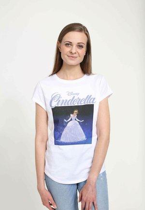 DISNEY WOMEN'S SQUARE CINDY  - Print T-shirt - white