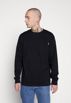 UNISEX ESSENTIAL SIGNATURE POCKET  - Långärmad tröja - black