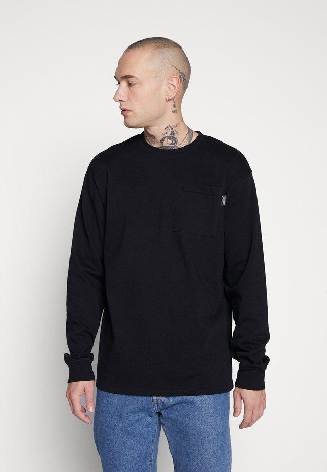 UNISEX ESSENTIAL SIGNATURE POCKET  - Pitkähihainen paita - black