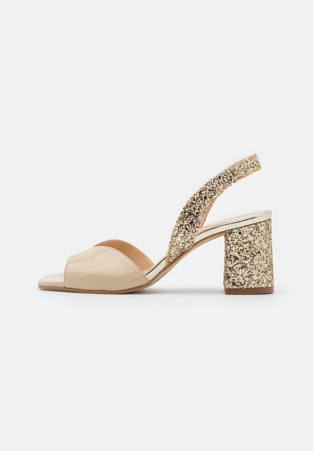 VOGUE - Sandali - glitter beige/platine
