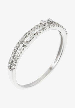 WHITE GOLD RING 9K CERTIFIED 46 DIAMONDS HP1 0.16 CT - Ring - silver