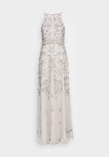 HIGH NECK EMBELLISHED MAXI DRESS - Společenské šaty - soft grey