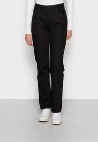 Nudie Jeans - LOFTY BLACK SOUL - Straight leg jeans - black soul - 0