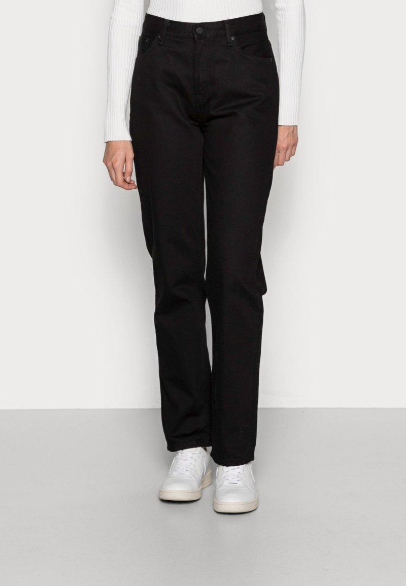 Nudie Jeans - LOFTY BLACK SOUL - Straight leg jeans - black soul