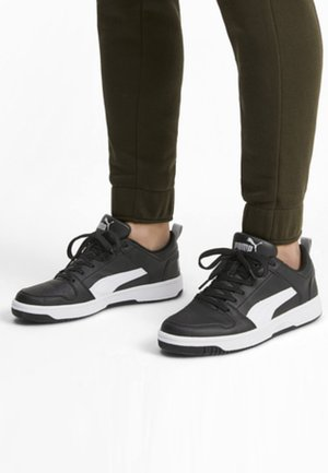 REBOUND LAYUP UNISEX - Sneaker low - puma black-white-high rise