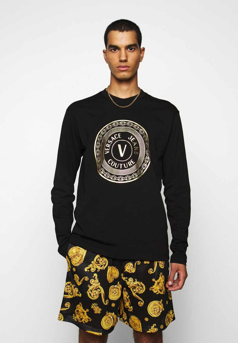 Versace Jeans Couture - LOGO - Long sleeved top - black/gold