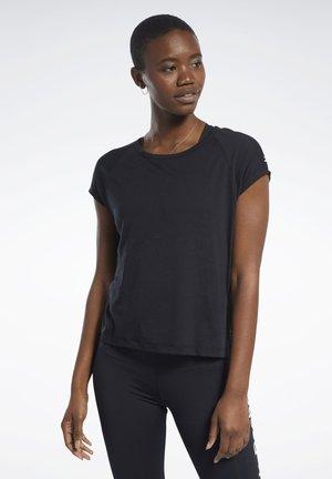 BURNOUT TEE - Basic T-shirt - black