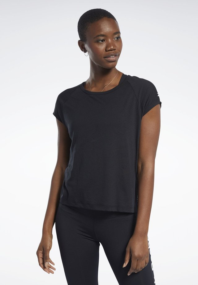 BURNOUT TEE - Camiseta básica - black