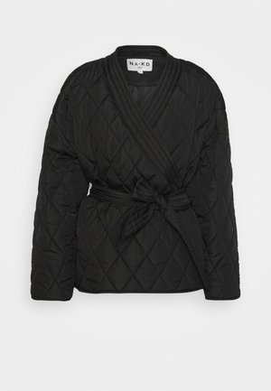 QUILTED KIMONO JACKET - Overgangsjakker - black