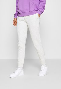 Hollister Co. - LOGO - Tracksuit bottoms - light grey - 0