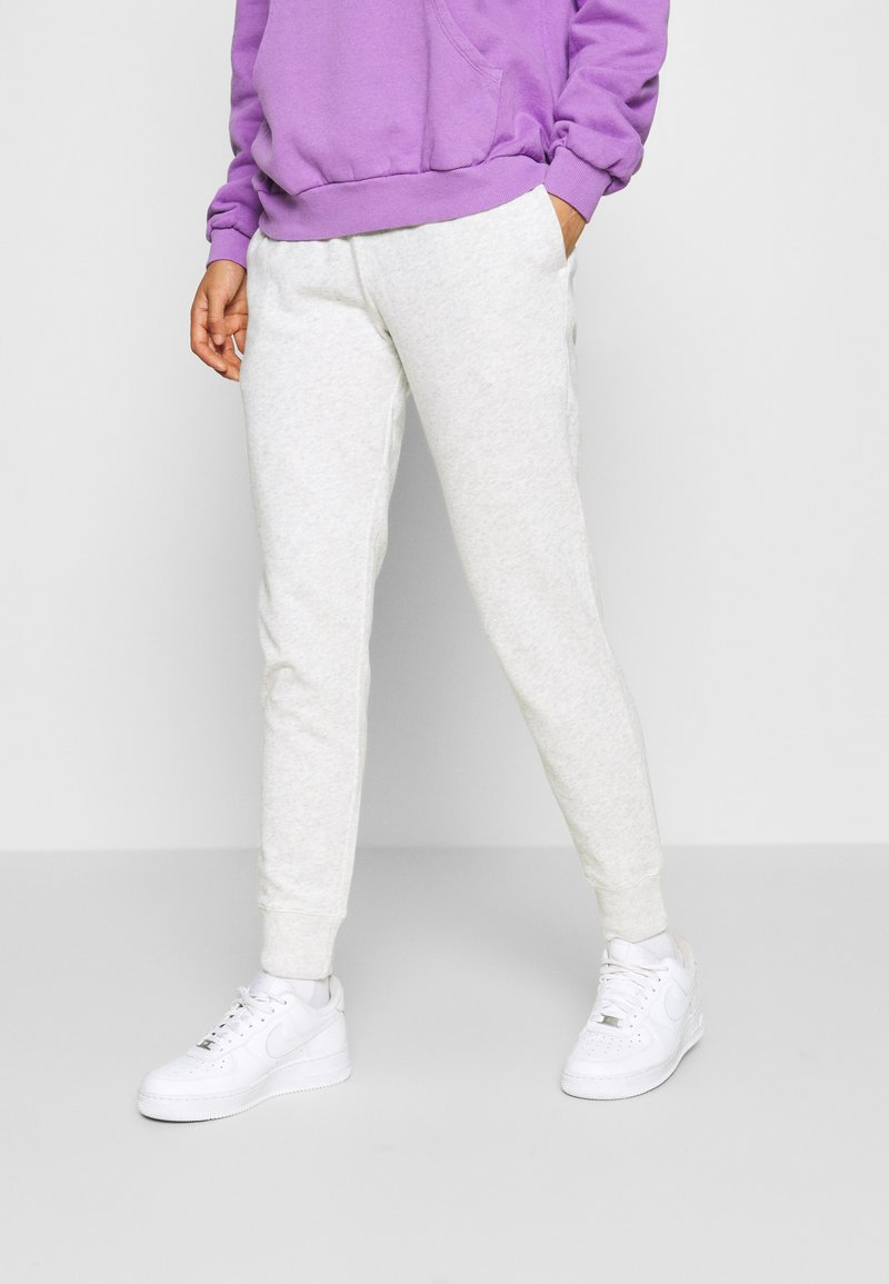 Hollister Co. - LOGO - Tracksuit bottoms - light grey