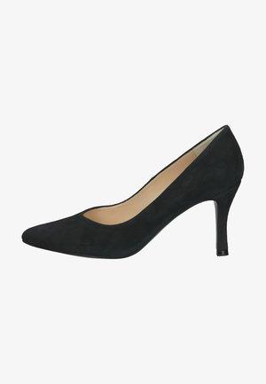 High heels - navy suede