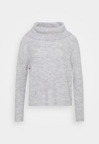 Anna Field Petite - OVERSIZED ROLL NECK  - Jumper - mottled light grey - 4