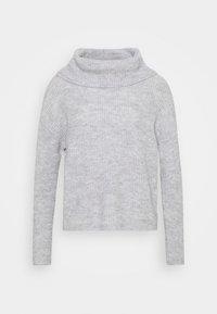 OVERSIZED ROLL NECK  - Jumper - mottled light grey