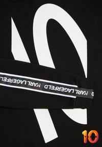 KARL LAGERFELD - TERRY - Sweater - black /white - 5